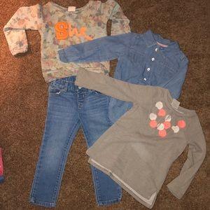 4 piece toddler girls bundle size 3T